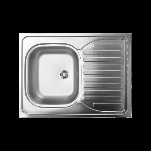 Zlewozmywaki stalowe 1-komorowe zociekaczem nakładane